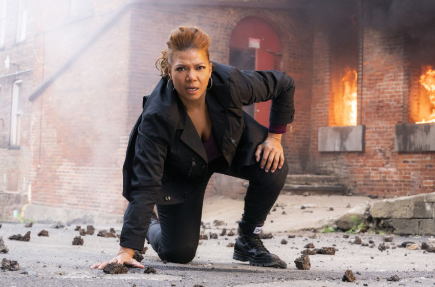 """""""The Equalizer"""" – Academy Award® nominee and multi-hyphenate Queen Latifah stars as Robyn McCall, an enigmatic former CIA operative who uses her extensive skills to help those with nowhere else to turn. As McCall acclimates to civilian life, she is compelled to use her considerable resources to help Jewel (Lorna Courtney), a teenager accused of murder and on the run from the criminals who framed her for the crime, on the series premiere of the re-imagined classic series THE EQUALIZER, to be broadcast immediately following CBS Sports' broadcast of SUPER BOWL LV on Sunday, Feb. 7 (10:00-11:00 PM, ET/7:00-8:00 PM, PT; time is approximate after post-game coverage) on the CBS Television Network. THE EQUALIZER will move to its regular Sunday (8:00-9:00 PM, ET/PT) time period on Feb. 14. Pictured: Queen Latifah as Robyn McCall Photo: Barbara Nitke/CBS ©2020 CBS Broadcasting, Inc. All Rights Reserved."""