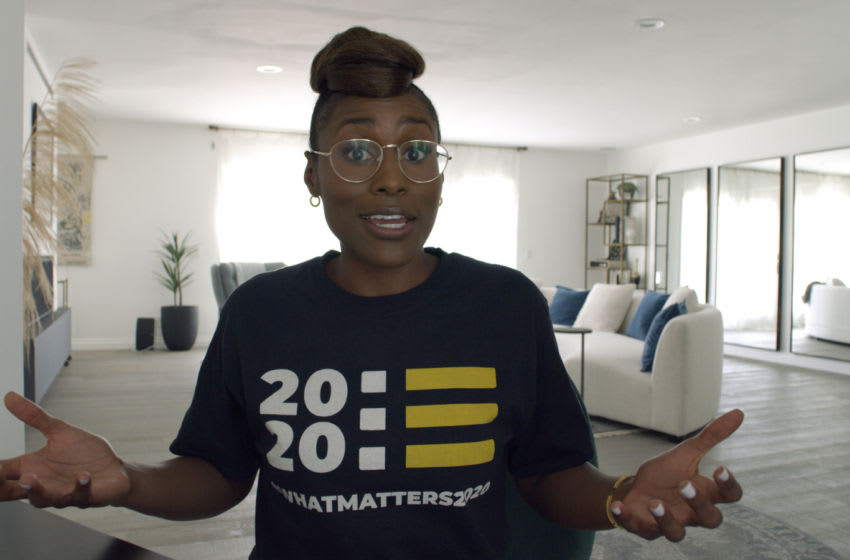 Issa Rae from HBO's Coastal Elites - Photograph by Courtesy of HBO