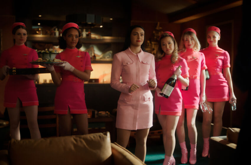 """Riverdale -- """"Chapter Ninety-Two: Band of Brothers"""" -- Image Number: RVD516fg_0047r -- Pictured: Camila Mendes as Veronica Lodge -- Photo: The CW -- © 2021 The CW Network, LLC. All Rights Reserved."""