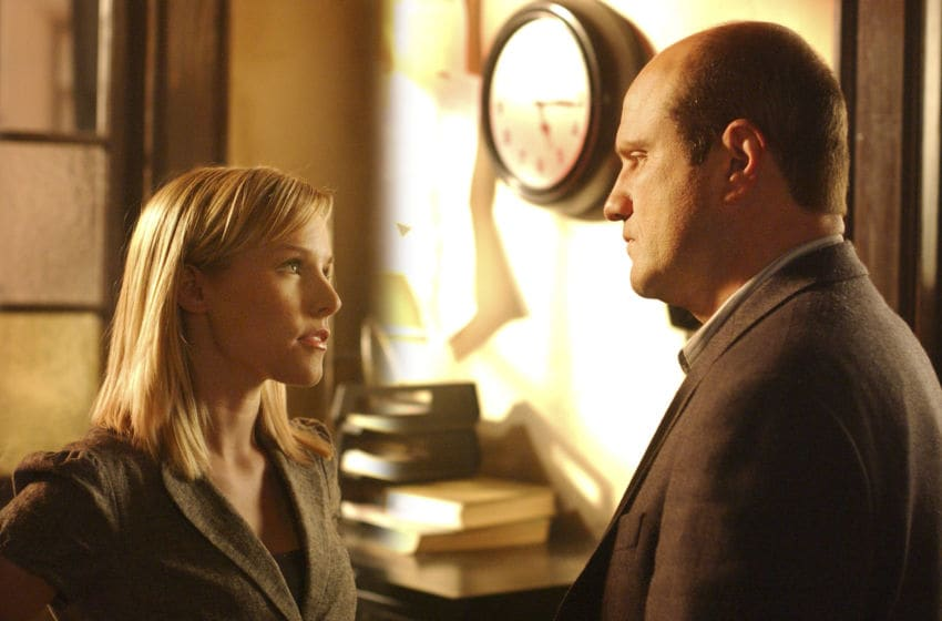 SAN DIEGO - MARCH 21: Keith (Enrico Colantoni) confronts Veronica (Kristen Bell) in VERONICA MARS on The CW this fall. (Photo by Ron P. Jaffe/CBS Photo Archive via Getty Images)