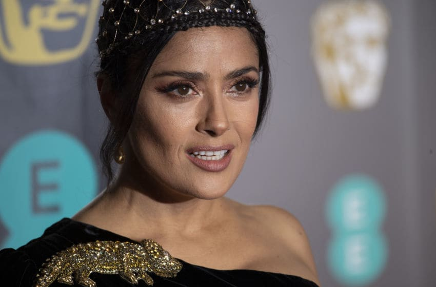 LONDON, ENGLAND - FEBRUARY 10: Salma Hayek attends the EE British Academy Film Awards at Royal Albert Hall on February 10, 2019 in London, England. (Photo by Gareth Cattermole/Getty Images)