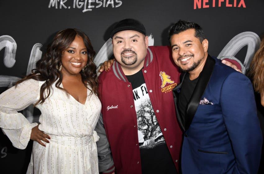 LOS ANGELES, CALIFORNIA - JUNE 20: (L-R) Sherri Shepherd, Gabriel Iglesias and Jacob Vargas attend Season 1 Premiere Of Netflix's