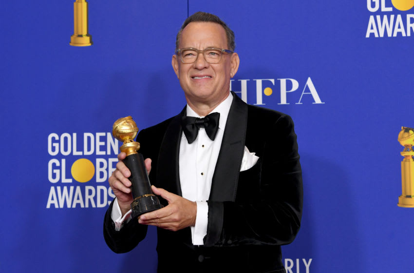 BEVERLY HILLS, CALIFORNIA - JANUARY 05: Tom Hanks, winner of the Cecil B. Demille Award, poses in the press room during the 77th Annual Golden Globe Awards at The Beverly Hilton Hotel on January 05, 2020 in Beverly Hills, California. (Photo by Kevin Winter/Getty Images)