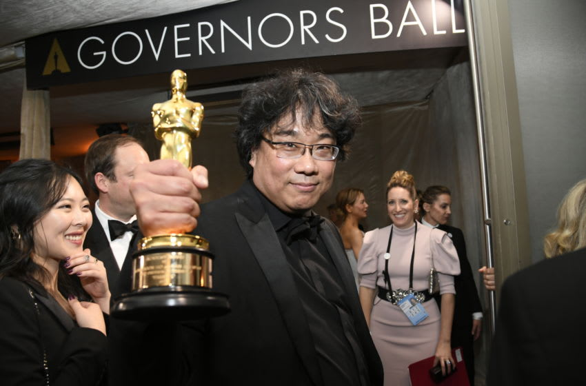 HOLLYWOOD, CALIFORNIA - FEBRUARY 09: Writer-director Bong Joon-ho, winner of the Best Picture, Director, Original Screenplay, and International Feature Film awards for