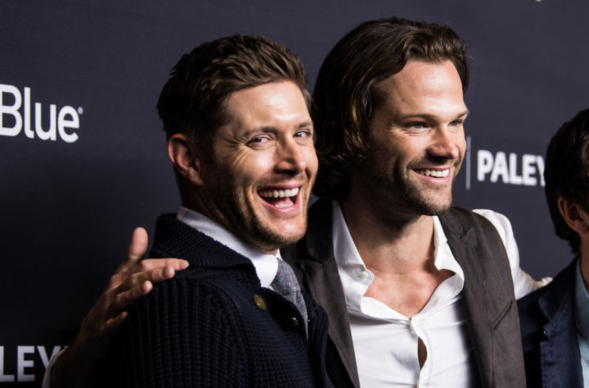 HOLLYWOOD, CA - MARCH 20: Actors Jensen Ackles (L) and Jared Padalecki attend the Paley Center for Media's 35th Annual PaleyFest Los Angeles 'Supernatural' at Dolby Theatre on March 20, 2018 in Hollywood, California. (Photo by Emma McIntyre/Getty Images)
