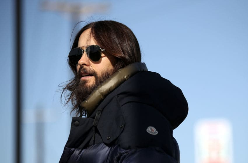 FORT WORTH, TX - APRIL 04: Jared Leto of Thirty Seconds to Mars visits Texas Motor Speedway on his