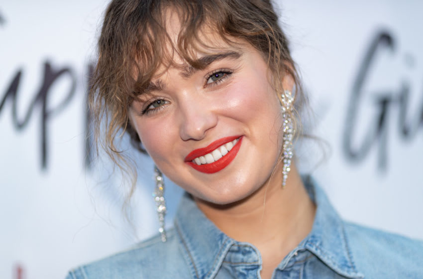 HOLLYWOOD, CA - AUGUST 22: Haley Lu Richardson arrives to the premiere of Magnolia Pictures'