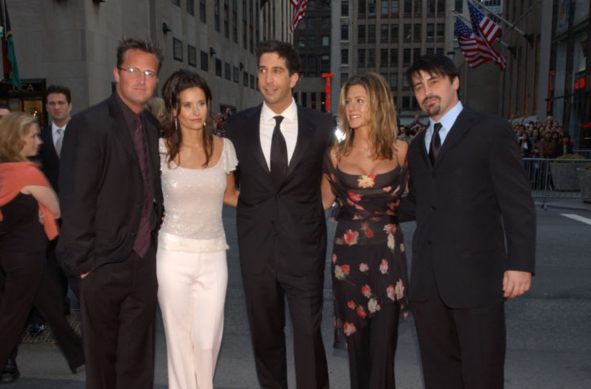 Cast of Friends arrives for the NBC 75th Anniversary celebration taking place live in Studio 8H in Rockefeller Center in New York City, May 5, 2002. Photo by Frank Micelotta/ImageDirect.