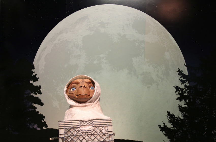 HOLLYWOOD, CA - JANUARY 06: A wax figure of E.T. the Extra-Terrestrial is displayed at Madame Tussauds on January 6, 2014 in Hollywood, California. (Photo by David Livingston/Getty Images)