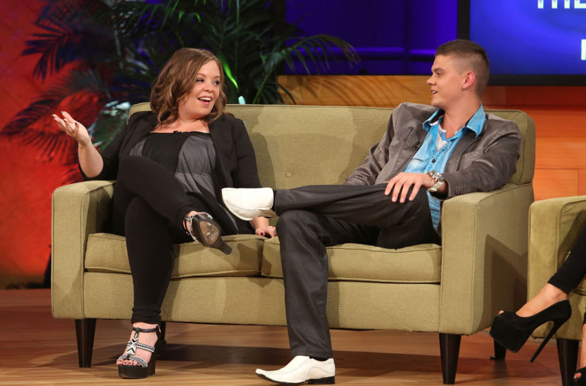 CULVER CITY, CA - AUGUST 08: TV personalities Catelynn Lowell and Tyler Baltierra attend the VH1