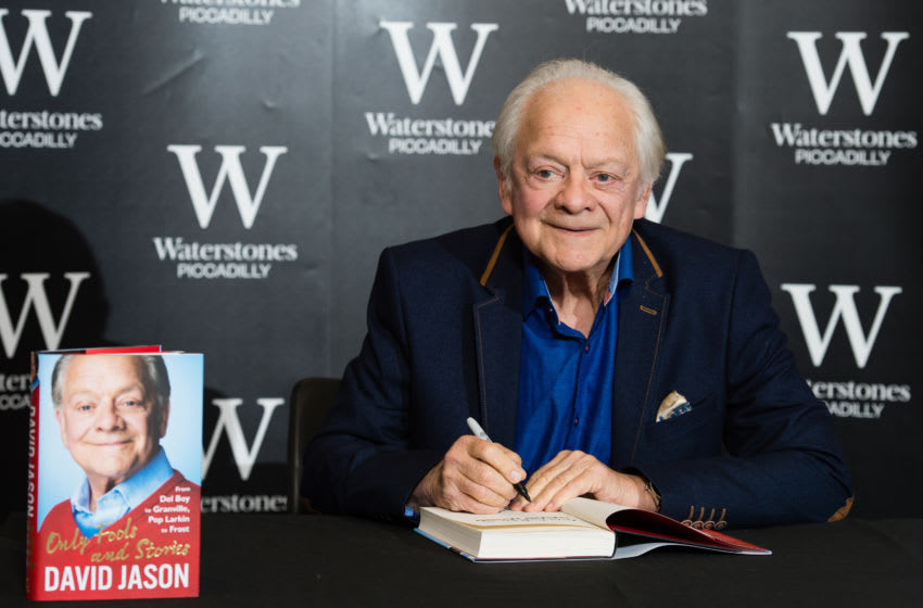 LONDON, ENGLAND - OCTOBER 22: David Jason signs copies of his new book 'Only Fools and Stories' at Waterstones Piccadilly on October 22, 2017 in London, England. (Photo by Jeff Spicer/Getty Images)