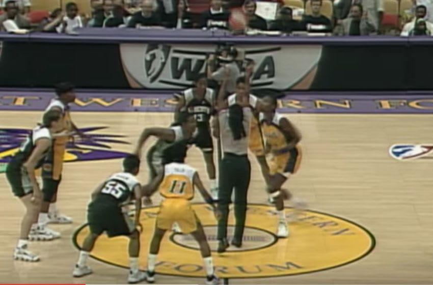 First WNBA tipoff. (screenshot)