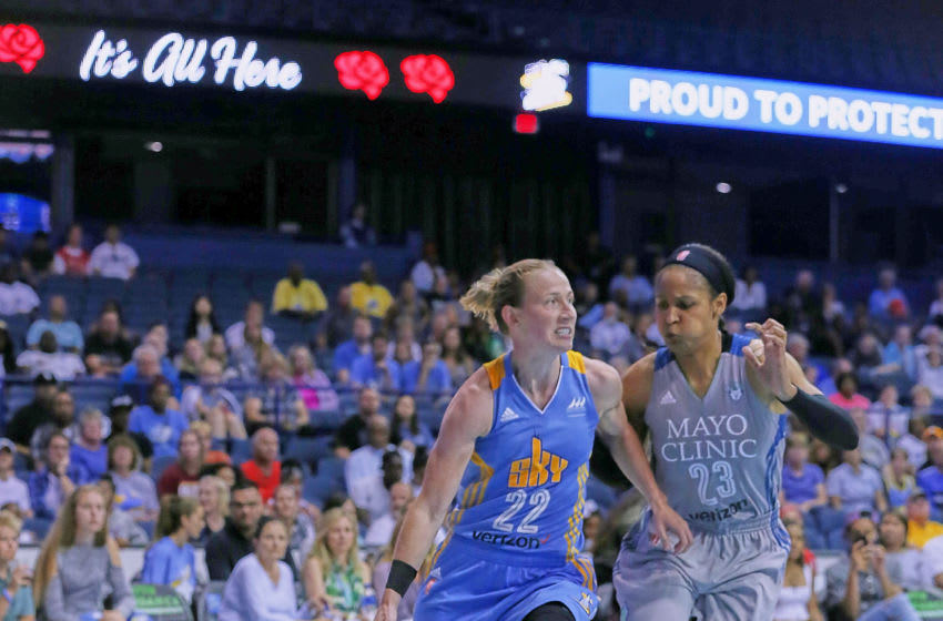 Courtney Vandersloot of the Chicago Sky. Photo by Abe Booker, III