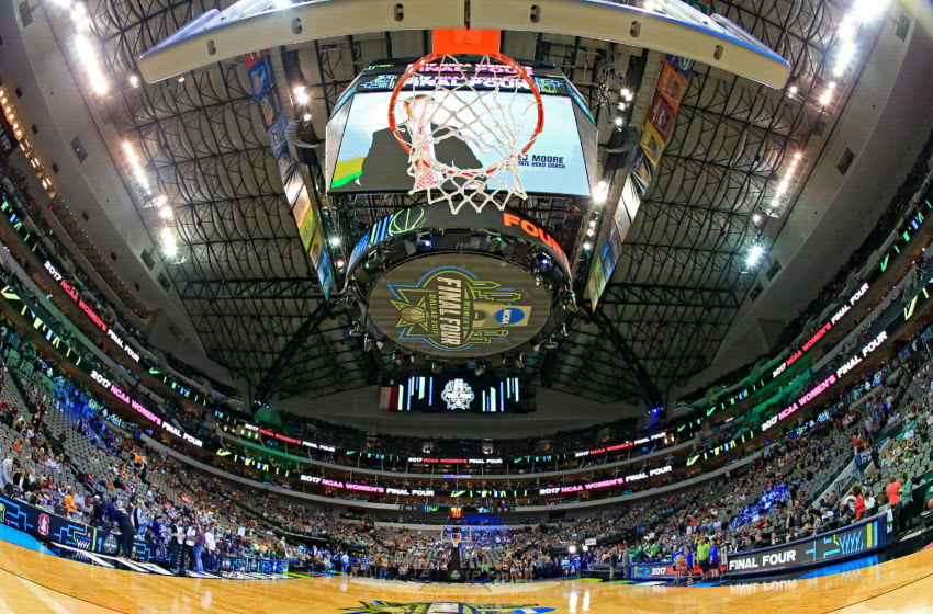 DALLAS, TX - APRIL 02: A general view of the American Airlines Center prior to the game between the South Carolina Gamecocks and the Mississippi State Lady Bulldogs during the championship game of the 2017 NCAA Women's Final Four at American Airlines Center on April 2, 2017 in Dallas, Texas. (Photo by Ron Jenkins/Getty Images)