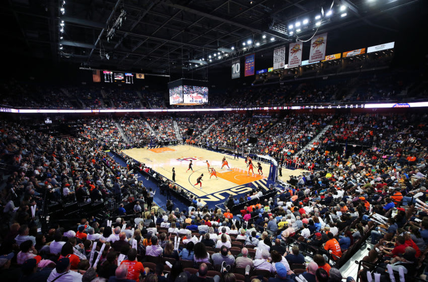 UNCASVILLE, CONNECTICUT - OCTOBER 08: A general view of Mohegan Sun Arena during Game Four of the 2019 WNBA Finals between the Washington Mystics and Connecticut Sun on October 08, 2019 in Uncasville, Connecticut. (Photo by Maddie Meyer/Getty Images)