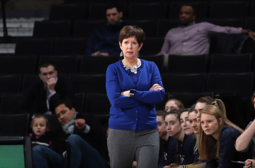 WINSTON-SALEM, NC - FEBRUARY 06: Head coach Muffet McGraw of the University of Notre Dame during a game between Notre Dame and Wake Forest at Lawrence Joel Veterans Memorial Coliseum on February 06, 2020 in Winston-Salem, North Carolina. (Photo by Andy Mead/ISI Photos/Getty Images)