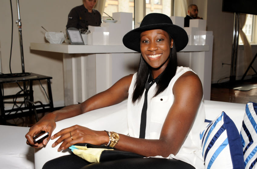NEW YORK, NY - JUNE 23: Rio Olympic hopeful Tina Charles attends the TeamUSA New View event at Midtown Loft & Terrace on June 23, 2015 in New York City. (Photo by D Dipasupil/Getty Images for USOC)