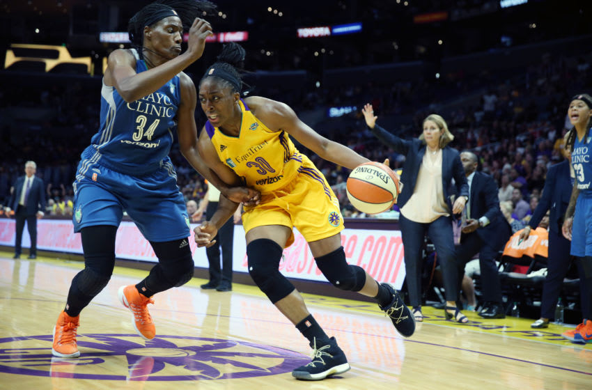 LOS ANGELES, CA - SEPTEMBER 29: Nneka Ogwumike