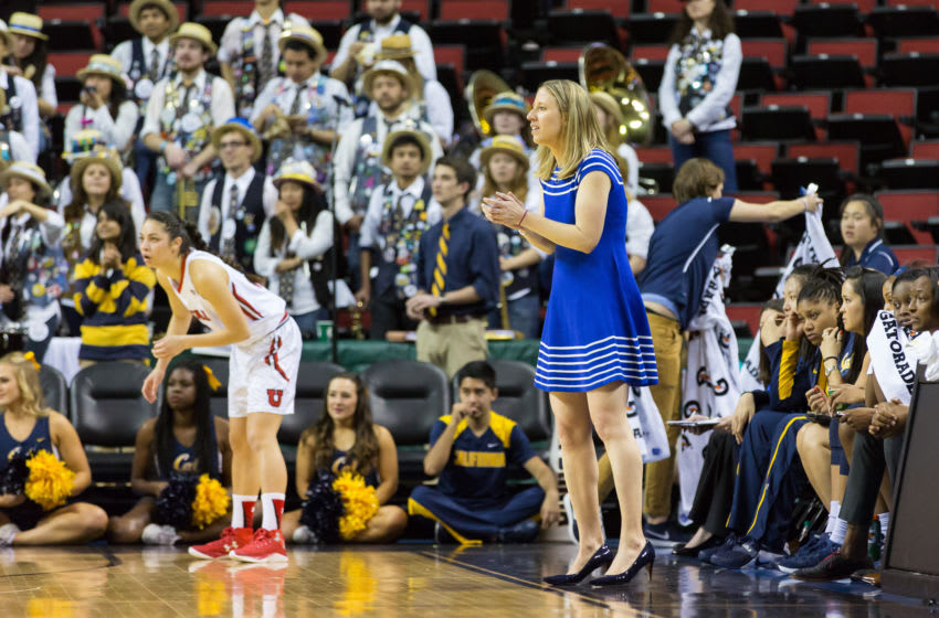 SEATTLE, WASHINGTON - MARCH 3: Cal Bears Head Coach Lindsay Gottlieb during the first game of the PAC-12 Women's Tournament in Seattle, WA. (Photo by Christopher Mast/Icon Sportswire) (Photo by Christopher Mast/Icon Sportswire/Corbis via Getty Images)