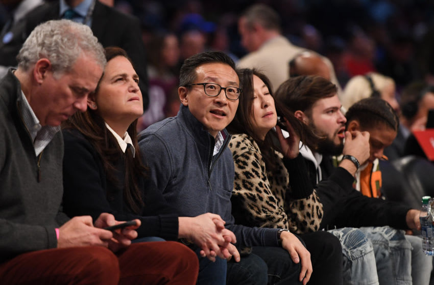 NEW YORK, NEW YORK - DECEMBER 15: Owner Joe Tsai of the Brooklyn Nets during the game against the Philadelphia 76ers at Barclays Center on December 15, 2019 in New York City. NOTE TO USER: User expressly acknowledges and agrees that, by downloading and or using this photograph, User is consenting to the terms and conditions of the Getty Images License Agreement. (Photo by Matteo Marchi/Getty Images)