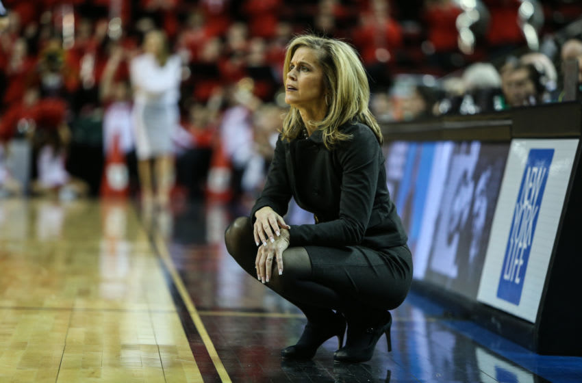 SEATTLE, WA - MARCH 02: ASU Sundevils head coach Charli Turner Thorne during the woman's Pac 12 college tournament game between the Utah Utes and the ASU Sun devils on March 02, 2017, at the Key Arena in Seattle, WA. (Photo by Aric Becker/Icon Sportswire via Getty Images)