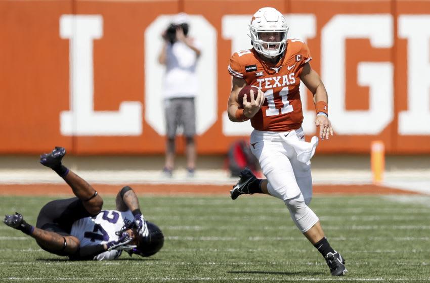 Sam Ehlinger, Texas Football (Photo by Tim Warner/Getty Images)