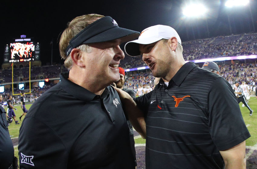 Tom Herman, Texas Football (Photo by Richard W. Rodriguez/Getty Images)