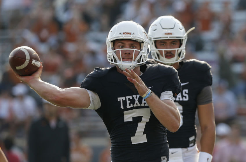 Shane Buechele, Texas Football (Photo by Tim Warner/Getty Images)