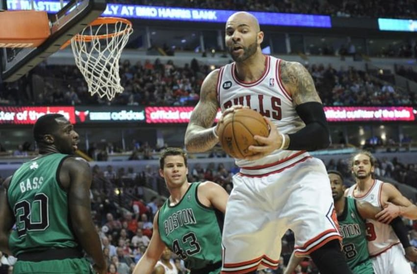For all of the criticism over his contract, Carlos Boozer has been a very productive player for the Bulls. Mandatory Credit: David Banks-USA TODAY Sports