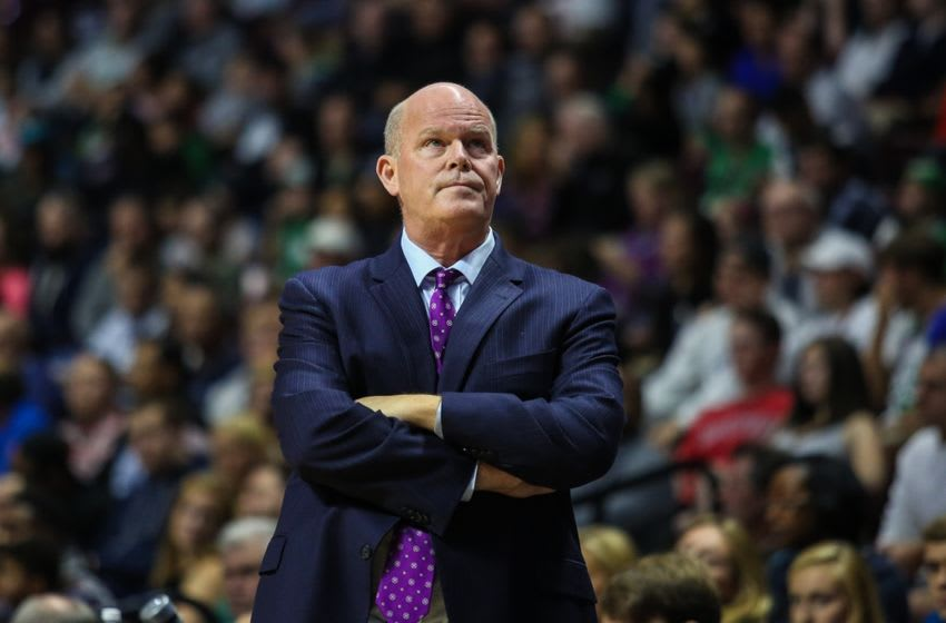 Oct 8, 2016; Uncasville, CT, USA; Charlotte Hornets head coach Steve Clifford during a preseason game against the Boston Celtics at Mohegan Sun Arena. Mandatory Credit: Wendell Cruz-USA TODAY Sports