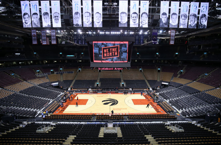 TORONTO, ON - OCTOBER 24: General view prior to an NBA game between the Minnesota Timberwolves and the Toronto Raptors at Scotiabank Arena on October 24, 2018 in Toronto, Canada. NOTE TO USER: User expressly acknowledges and agrees that, by downloading and or using this photograph, User is consenting to the terms and conditions of the Getty Images License Agreement. (Photo by Vaughn Ridley/Getty Images)