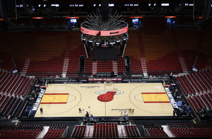 MIAMI, FLORIDA - OCTOBER 23: A general view of American Airlines Arena prior to the game between the Miami Heat and the Memphis Grizzlies on October 23, 2019 in Miami, Florida. NOTE TO USER: User expressly acknowledges and agrees that, by downloading and/or using this photograph, user is consenting to the terms and conditions of the Getty Images License Agreement. (Photo by Michael Reaves/Getty Images)