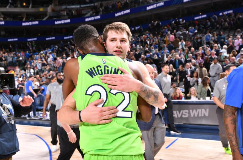 NBA Dallas Mavericks Luka Doncic Minnesota Timberwolves Andrew Wiggins. Copyright 2019 NBAE (Photo by Glenn James/NBAE via Getty Images)