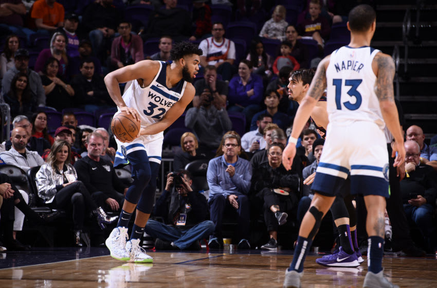 Minnesota Timberwolves Karl-Anthony Towns. Copyright 2019 NBAE (Photo by Michael Gonzales/NBAE via Getty Images)