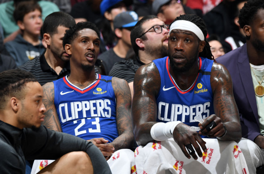 LA Clippers Lou Williams Montrezl Harrell. Copyright 2020 NBAE (Photo by Andrew D. Bernstein/NBAE via Getty Images)