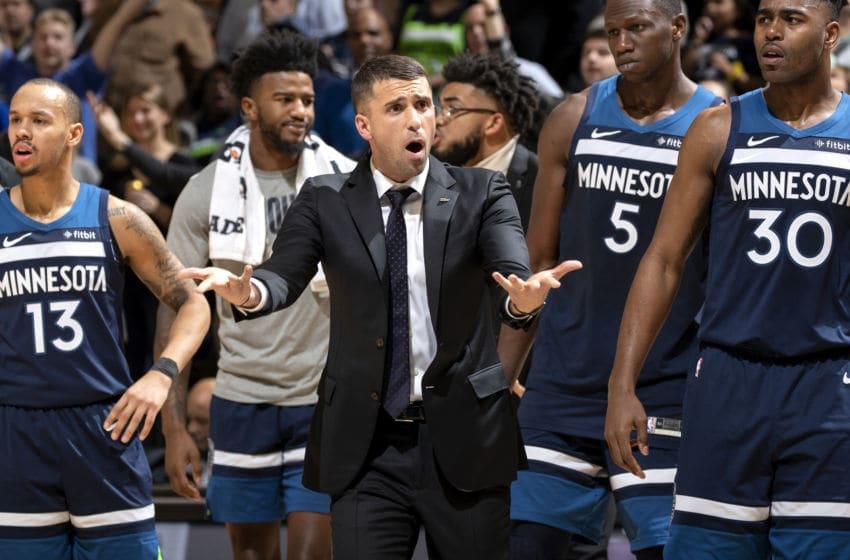Minnesota Timberwolves Ryan Saunders (Photo by Carlos Gonzalez/Star Tribune via Getty Images)