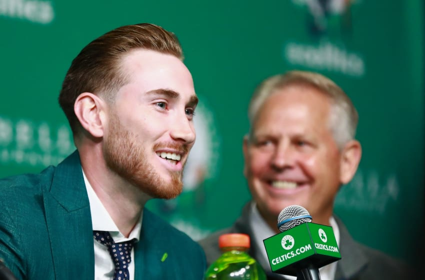 BOSTON, MA - SEPTEMBER 01: General Manager Danny Ainge and Gordon Hayward