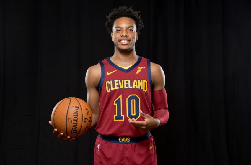 INDEPENDENCE, OHIO - SEPTEMBER 30: Darius Garland #10 of the Cleveland Cavaliers during Cleveland Cavaliers Media Day at Cleveland Clinic Courts on September 30, 2019 in Independence, Ohio. NOTE TO USER: User expressly acknowledges and agrees that, by downloading and/or using this photograph, user is consenting to the terms and conditions of the Getty Images License Agreement. (Photo by Jason Miller/Getty Images)