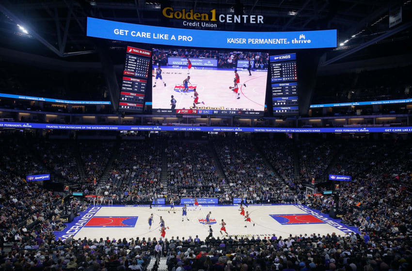 SACRAMENTO, CALIFORNIA - NOVEMBER 12: A general view of the court during the second half of the game between the Sacramento Kings and the Portland Trail Blazers at Golden 1 Center on November 12, 2019 in Sacramento, California. (Photo by Lachlan Cunningham/Getty Images)