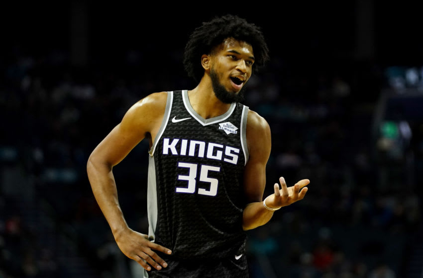 CHARLOTTE, NORTH CAROLINA - DECEMBER 17: Marvin Bagley III #35 of the Sacramento Kings during the second quarter during their game against the Charlotte Hornets at the Spectrum Center on December 17, 2019 in Charlotte, North Carolina. (Photo by Jacob Kupferman/Getty Images)
