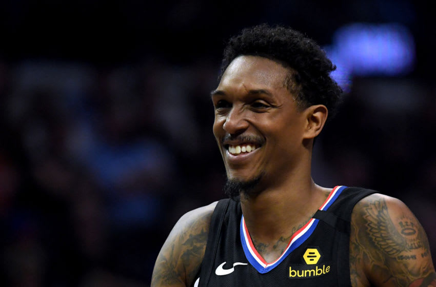 LOS ANGELES, CALIFORNIA - FEBRUARY 28: Lou Williams #23 of the LA Clippers smiles during a timeout in the game against the Denver Nuggets at Staples Center on February 28, 2020 in Los Angeles, California. (Photo by Harry How/Getty Images)