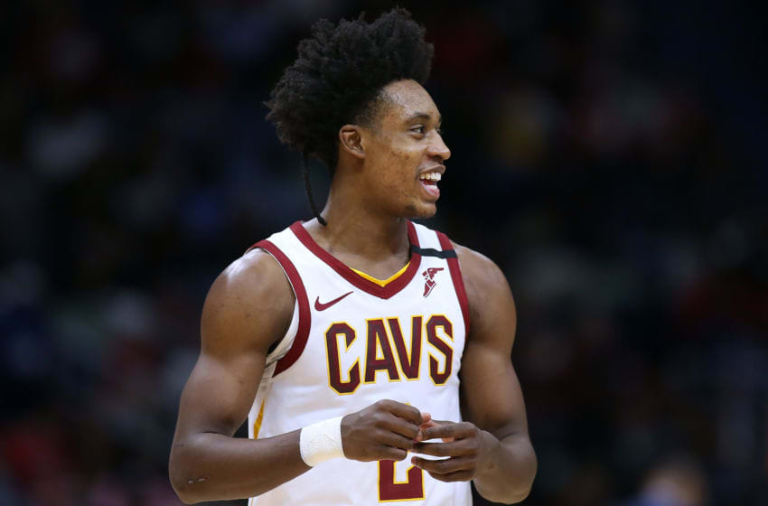 NEW ORLEANS, LOUISIANA - FEBRUARY 28: Collin Sexton #2 of the Cleveland Cavaliers reacts against the New Orleans Pelicans during the first half at the Smoothie King Center on February 28, 2020 in New Orleans, Louisiana. NOTE TO USER: User expressly acknowledges and agrees that, by downloading and or using this Photograph, user is consenting to the terms and conditions of the Getty Images License Agreement. (Photo by Jonathan Bachman/Getty Images)