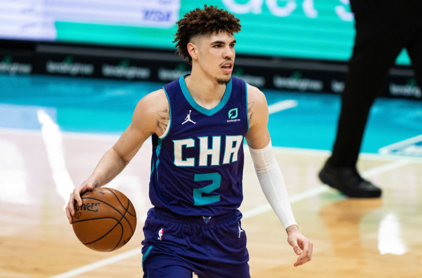 LaMelo Ball, Charlotte Hornets. Photo by Jacob Kupferman/Getty Images