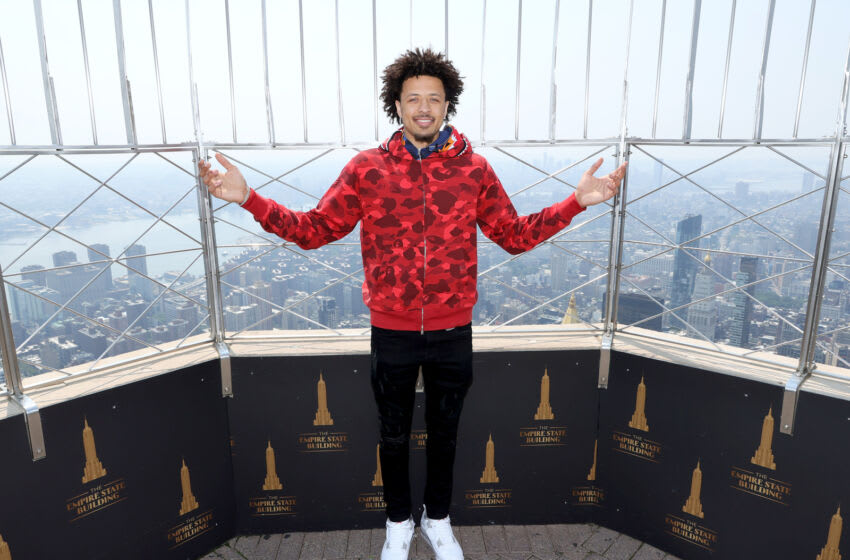NEW YORK, NEW YORK - JULY 27: Presumptive #1 NBA Draft Pick Cade Cunningham visits The Empire State Building on July 27, 2021 in New York City. (Photo by Dia Dipasupil/Getty Images for Empire State Realty Trust)
