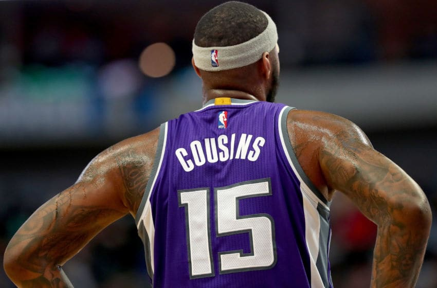DALLAS, TX - DECEMBER 07: DeMarcus Cousins #15 of the Sacramento Kings takes on the Dallas Mavericks in the first half at American Airlines Center on December 7, 2016 in Dallas, Texas. NOTE TO USER: User expressly acknowledges and agrees that, by downloading and or using this photograph, User is consenting to the terms and conditions of the Getty Images License Agreement. (Photo by Tom Pennington/Getty Images)