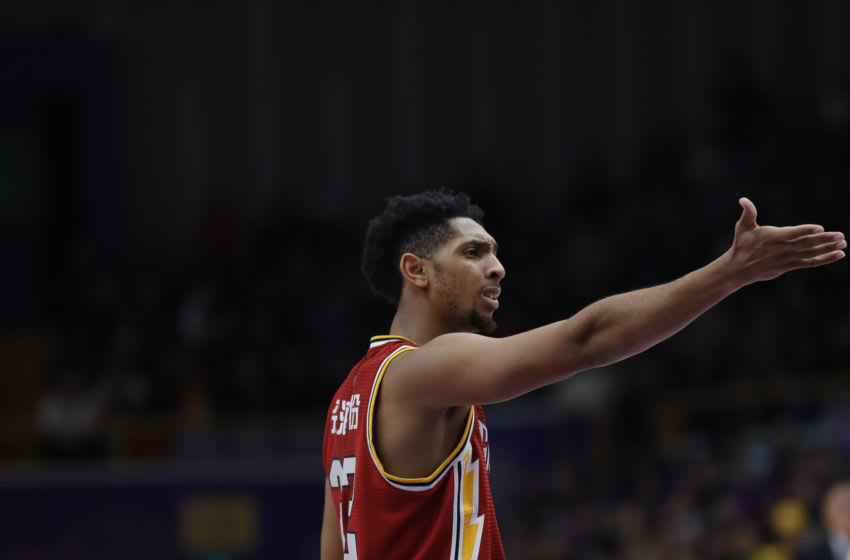 BEIJING, CHINA - DECEMBER 31: Cameron Payne #22 of Shanxi Tong Xi in action during 2019/2020 CBA League - Beijing Begcl v Shanxi Tong Xi at Beijing Olympic Sports Center on December 31, 2019 in Beijing, China. (Photo by Fred Lee/Getty Images)