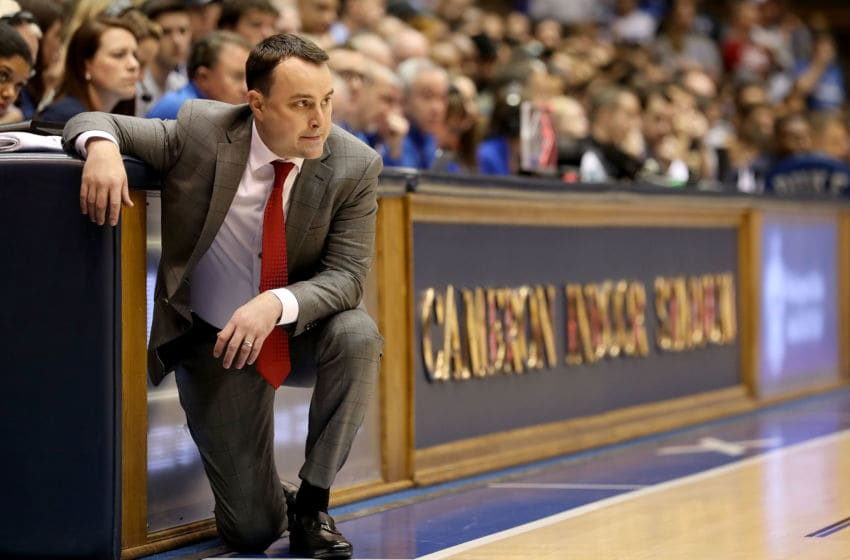 DURHAM, NC - NOVEMBER 27: Head coach Archie Miller of the Indiana Hoosiers watches on against the Duke Blue Devils during their game at Cameron Indoor Stadium on November 27, 2018 in Durham, North Carolina. (Photo by Streeter Lecka/Getty Images)