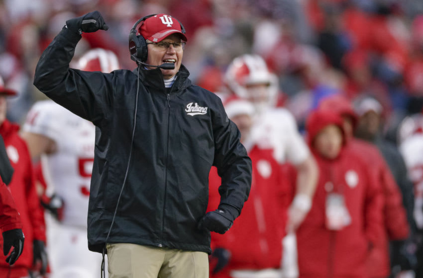WEST LAFAYETTE, IN - NOVEMBER 30: Head coach Tom Allen of the Indiana Hoosiers is seen during the game against the Purdue Boilermakers at Ross-Ade Stadium on November 30, 2019 in West Lafayette, Indiana. (Photo by Michael Hickey/Getty Images)