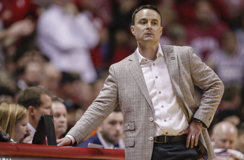 BLOOMINGTON, IN - JANUARY 11: Head coach Archie Miller of the Indiana Hoosiers is seen during the second half against the Ohio State Buckeyes at Assembly Hall on January 11, 2020 in Bloomington, Indiana. (Photo by Michael Hickey/Getty Images)