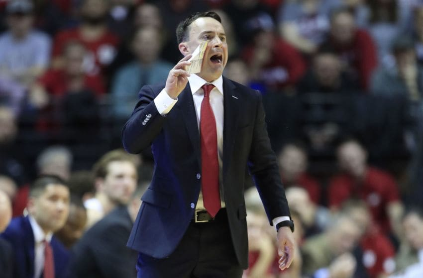 BLOOMINGTON, INDIANA - DECEMBER 13: Archie Miller the head coach of the Indiana Hoosiers gives instructions to his team against the Nebraska Cornhuskers at Assembly Hall on December 13, 2019 in Bloomington, Indiana. (Photo by Andy Lyons/Getty Images)